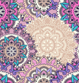 Seamless pattern with circular floral ornament vector image vector image