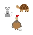 Set of animal - turtle chicken and mouse vector image