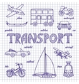 Set of sketches transportation vector image