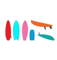 Set of windsurfing boards vector image