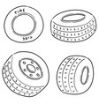 set tires vector image vector image
