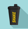 shake bottle icon flat style vector image vector image