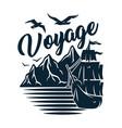 ship for sea print marine sailboat boat vessel vector image vector image