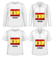 Spain shirts vector image vector image