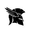 spartan helmet with wings vector image vector image
