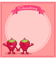 Strawberry Icon Character Notes vector image vector image