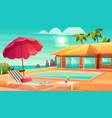summer leisure on tropical resort cartoon vector image vector image