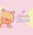 sweet dreams message vector image