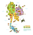 Thailand Map Poster vector image vector image