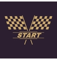 The start icon Start symbol Flat vector image