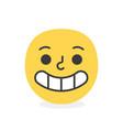 trendy happy emoji smile eps10 vector image vector image
