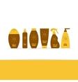 Tube of suntan oil cream After sun lotion Bottle vector image vector image