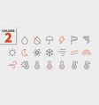 weather ui pixel perfect well-crafted thin vector image vector image