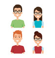 woman and man characters vector image vector image