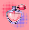 woman perfume pop art vector image vector image
