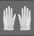 3d disposable transparent plastic or nitrile glove vector image