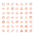 49 social icons vector image vector image