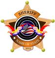 al 0433 sheriff 02 vector image vector image