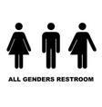 all gender restroom sign male female transgender vector image vector image