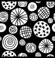 big polka dot sketch pattern vector image vector image