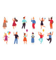 birthday party people women celebrating together vector image vector image