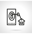 Black line icon for housing vector image vector image