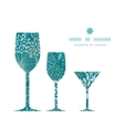 blue and gray plants three wine glasses vector image vector image
