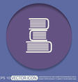 Books tower icon Education sign vector image vector image