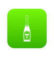 bottle of champagne icon digital green vector image vector image