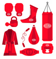 Boxing design elements Fighting and boxing vector image vector image