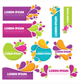 bright labels vector image vector image