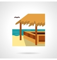 Bungalow bar flat color design icon vector image vector image