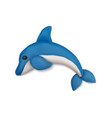 clay plasticine dolphin composition vector image vector image