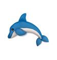 clay plasticine dolphin composition vector image vector image