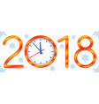clock 2018 new year vector image vector image