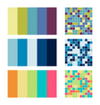 color palette set background harmony color combos vector image