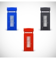 Colored telephone booths Londone style vector image