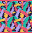 colorful seamless pattern with tropical leaves vector image vector image