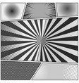 comic monochrome background vector image vector image