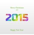 Creative 2015 happy new year greeting card