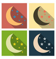 creative crescent moon with stars for holy month vector image
