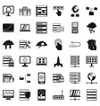 data protection icons set simple style vector image vector image