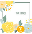 doodle floral card with place for your text vector image vector image