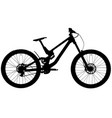 downhill mountain bike vector image