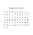e-commerce shopping line icon set vector image