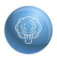 eco broccoli icon outline style vector image vector image