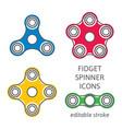 fidget hand spinner vector image