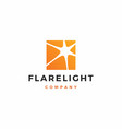 flare light logo icon download vector image vector image