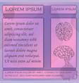 flyer for human brain studies vector image