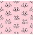 Funny cartoon cats vector image
